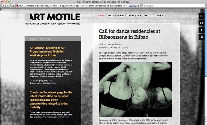 David Franklin Design Art Motile Website screenshot