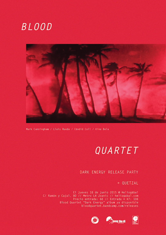 David Franklin Design Blood Quartet Poster design